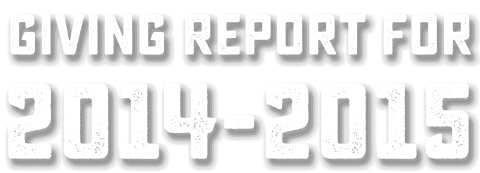 Giving Report: 2014-2015